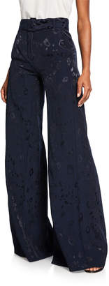 Alexis Donira Bengal High-Waist Belted Suit Pants