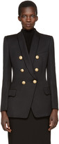 Balmain Black Long Oversized Blazer