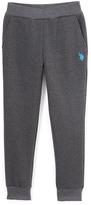 U.S. Polo Assn. Dark Heather Gray Fleece Sweatpants - Boys