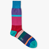 Paul Smith Jolly Block Cotton Socks, One Size, Pink/multi
