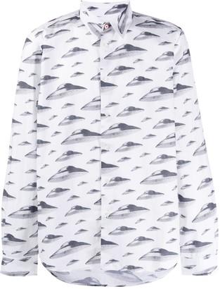 Paul Smith Spaceship print shirt
