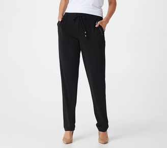 Susan Graver Regular Liquid Knit Pull-On Slim-Leg Pants