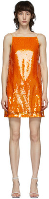 Eckhaus Latta Orange Sequin Mini Dress