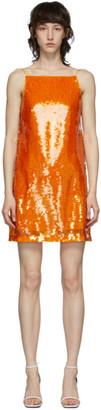 Eckhaus Latta Orange Sequin Mini Dress