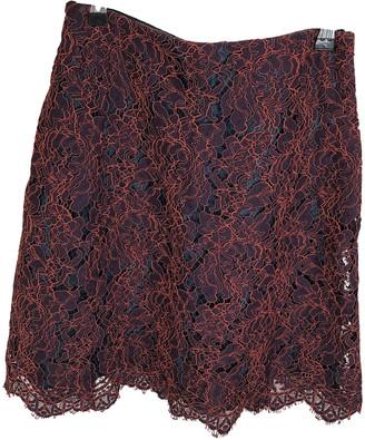 Carven Burgundy Cotton Skirts