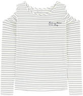 Pepe Jeans Striped sweater with bare shoulders