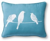 Nobrand No Brand Avery Printed Bird Decorative Pillow - Blue