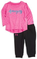 Under Armour Amazing Graphic Top & Jogger Pants Set (Baby Girls)