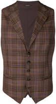 Tagliatore classic checked waistcoat