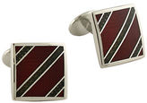 David Donahue Sterling Silver and Enamel Striped Cufflinks