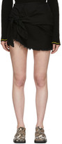 Marques Almeida Black Denim Knotted Mini Skirt