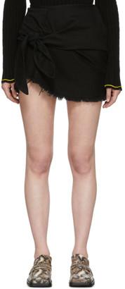 Marques Almeida Black Denim Knotted Mini Skirt