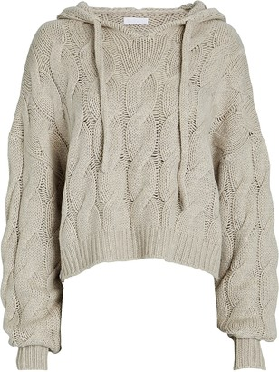 SABLYN Luke Cable Knit Cashmere Hoodie