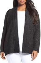 Eileen Fisher Plus Size Women's Silk Blend Ottoman Knit Cardigan