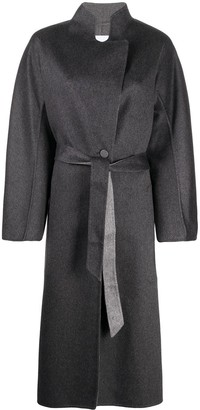 Agnona Belted Felt Cashmere Coat