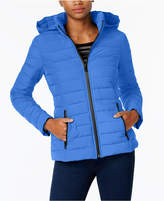 Nautica Stretch Hooded Packable Puffer Coat