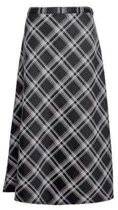 Dorothy Perkins Womens Black Check Print Midi Skirt, Black
