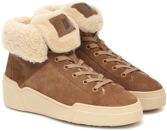 Bogner Paris suede and shearling sneakers