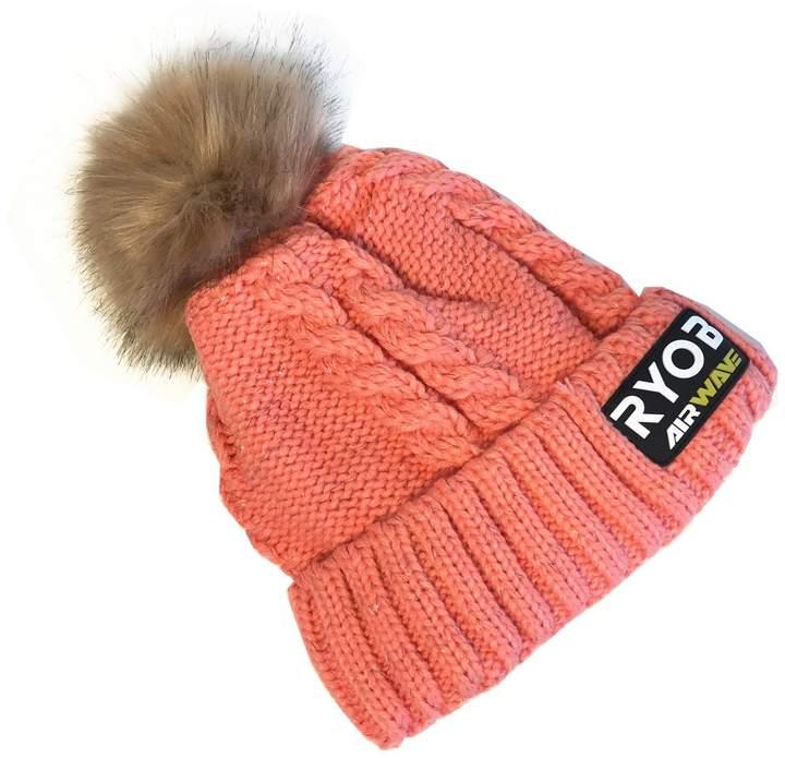 Backyard Daisy Apparel Super Thick Knit Winter Hat Ski Cap Tuque With Pom Pom
