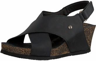 Panama Jack Women's Valeska Basics Ankle Strap Sandals Black Negro B2 4 UK