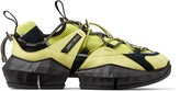 Jimmy Choo DIAMOND TRAIL/M Tennis Ball Yellow and Black Stretch Mesh Trainers with Leather Detailing