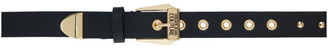 Versace Jeans Couture Black and Gold Studded Belt