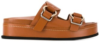 3.1 Phillip Lim Freida Double-Buckle Platform Slide