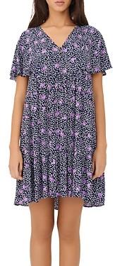 Maje Risee Floral Printed Oversized Mini Dress