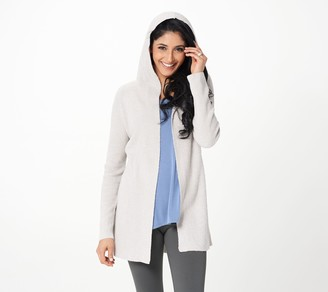 Barefoot Dreams CozyChic Lite Belted Hooded Cardi
