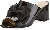 Amalfi by Rangoni Lanzarote Patent Bow Mule, Black