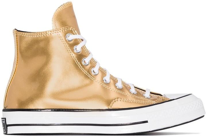 Metallic Converse High Tops | Shop the