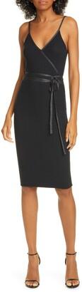 ATM Anthony Thomas Melillo Glitter Trim Micromodal Blend Dress