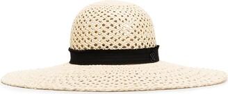 Maison Michel Blanche woven straw hat