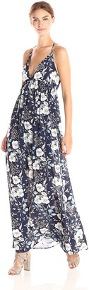 Ark & Co Women's Floral V Neck Maxi Dress