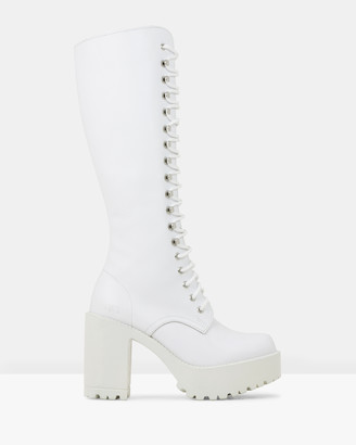 ROC Boots Australia - Women's White Platform Heels - Lash - Size One Size, 39 at The Iconic