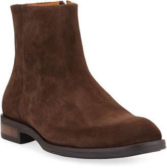 Donald J Pliner Men's Suede Side-Zip Ankle Boots