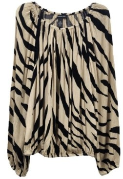 INC International Concepts Inc Animal-Print Peasant Top, Created for Macy's