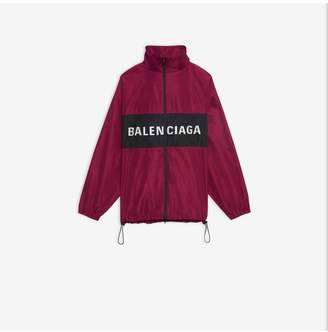 Balenciaga Logo Zip-Up Jacket