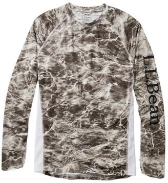 L.L. Bean Men's Tropicwear Knit Crew Shirt, Long-Sleeve Print