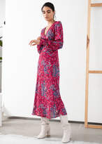 And other stories Paisley V-Cut Midi Dress