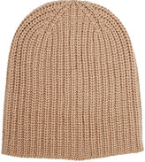 Alex Mill Men's Chunky Rib-Knit Cashmere Beanie-TAN