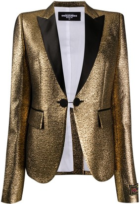 DSQUARED2 Metallic Button-Front Blazer