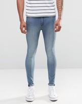Cheap Monday Mid Spray Jeans Set Blue