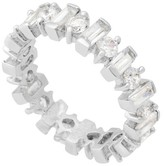 Journee Collection Tressa Collection Round Cut and Baguette Cubic Zirconia Eternity Band in Sterling Silver - 4mm