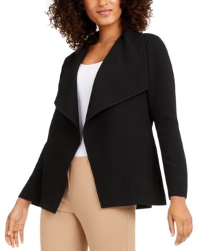 Alfani Draped Jacquard Jacket, Created for Macy's