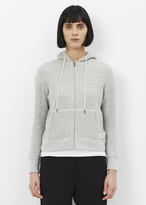 R 13 heather grey shrunken hoodie