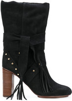 See by Chloe fringed boots - women - Suede/rubber - 37