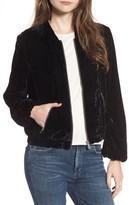 Splendid Women's Crushed Velvet Bomber Jacket