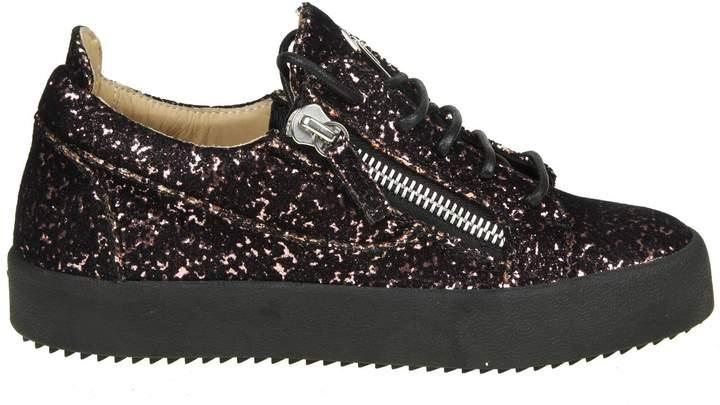 Giuseppe Zanotti Sneakers may In Velvet And Glitter