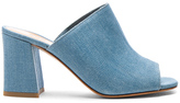 Maryam Nassir Zadeh Denim Penelope Mules in Blue.